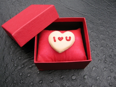 Heart Shaped Homemade Valentine Cookie With I Love You Message