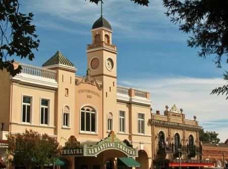 Sebastiani Theatre  in downtown Sonoma, California, USA