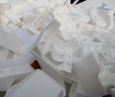 White packaging pile is ready for recycling Imagens