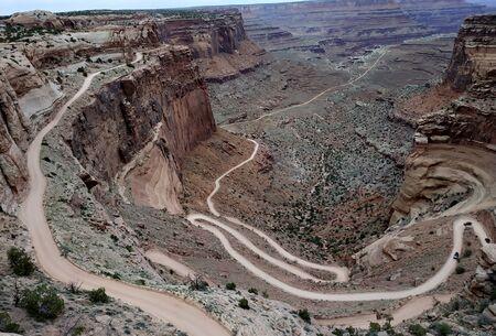 Windy dirt road in Canyonlands National Park, Utah, USA