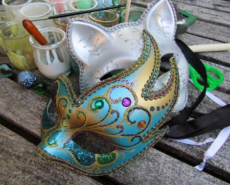 Festival eye mask paint craft