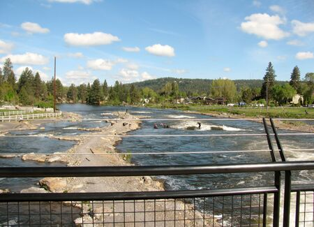Whitewater recreation park in Bend, Oregon, USA. Stock fotó
