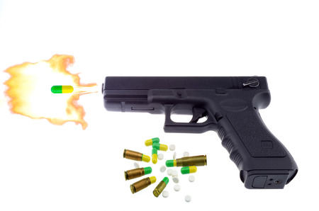 gunfire: gunfire and drug abuse Stock Photo