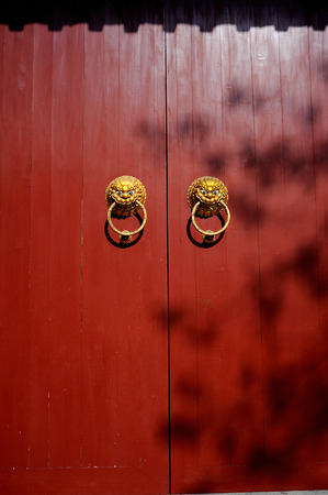 red door: Chinese red door