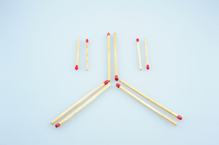 controversial: Chinese character with matches Stock Photo