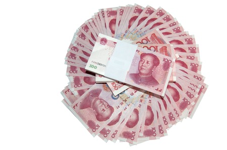 rmb: RMB banknotes arranged in a circle Stock Photo