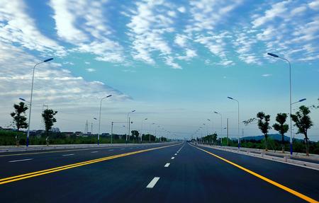 ambiguity: Evening road