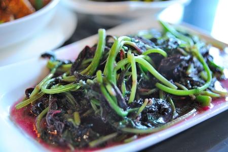Stir-fried amaranth Stock Photo