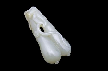 longevity: Loofah jade longevity pendant