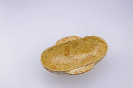 pipa: Jin dynasty green glazed large Wineglass