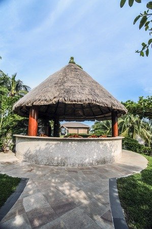 thatched: Thatched pavilion
