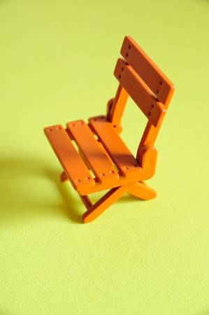 folding chair: Folding chair model features Stock Photo