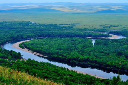 wetland: Inner Mongolia hulunbeier genhe Wetland Park scenery