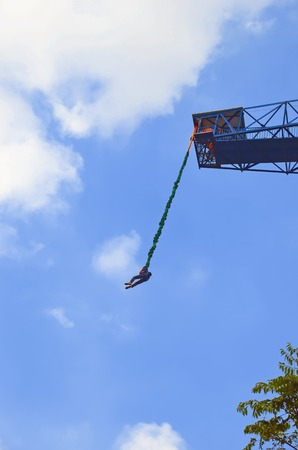 playground rides:  bungee jumping games Editorial