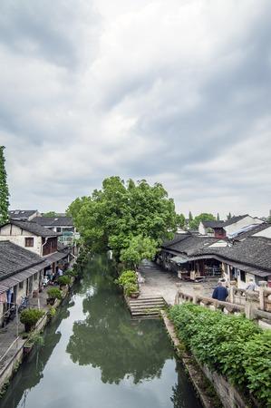 song dynasty: Shaoxing, Bazi Bridge House Stock Photo
