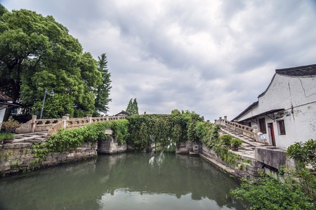 song dynasty: Shaoxing, Bazi bridge Stock Photo