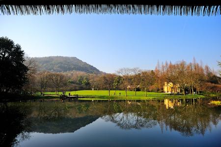 浙江省では公園の風景風景を見る