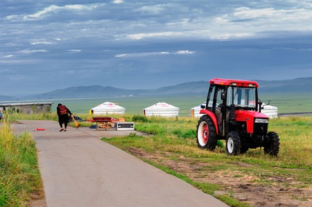 nomads: Steppe nomads inhabited areas of tractor