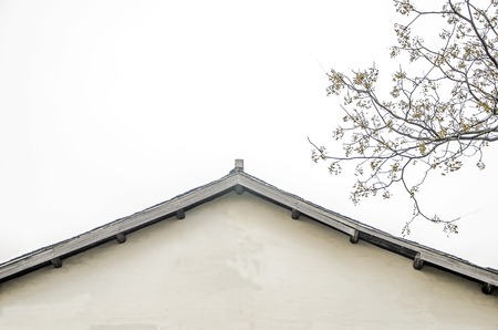 architecture bungalow: Close up to a building roof Stock Photo