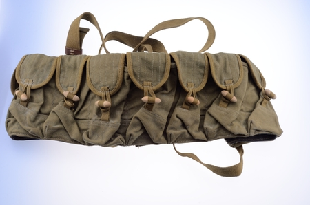 infantry: Canvas infantry ammunition bags