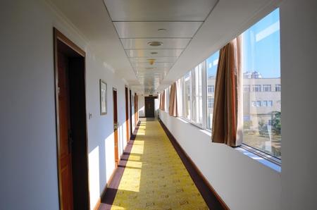 carpet clean: Bright Hotel corridor