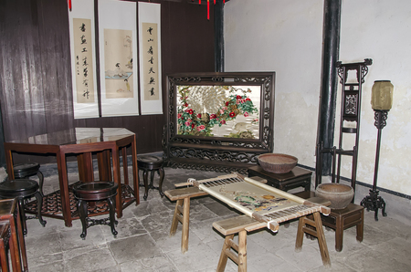 basket embroidery: Ancient embroidery room