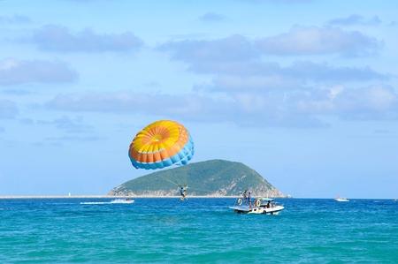 Boat drag parachute sea sports