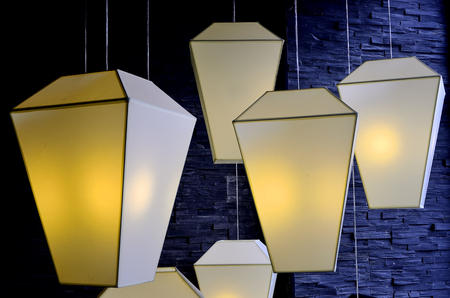 deflection: Ceiling lamps Stock Photo