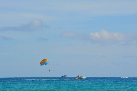 sea sports: Boat drag parachute sea sports