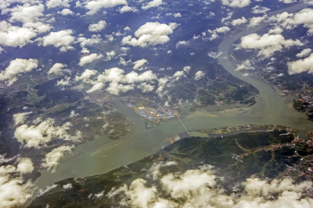 tributary: Aerial Yangtze River