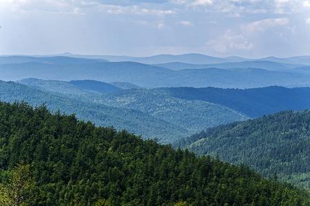 Greater Khingan Range, one of the nine scenic spots Stock Photo