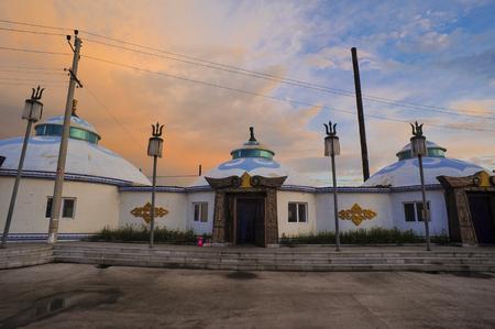 herdsman: Mongolian yurts