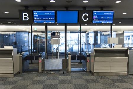 Japan airport domestic flight departure