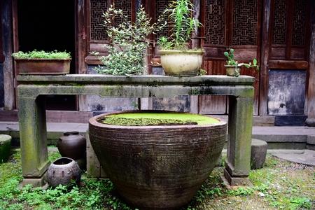 courtyard: Chinese Jiangnan courtyard Stock Photo