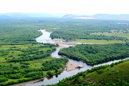 woody bay: Inner Mongolia River Wetland Park in Hulun Buir Stock Photo