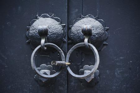 knocker: Padlock knocker Stock Photo