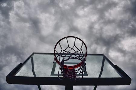 suppressed: Suppressed basketball stand