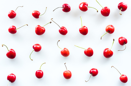 Cherry in white background
