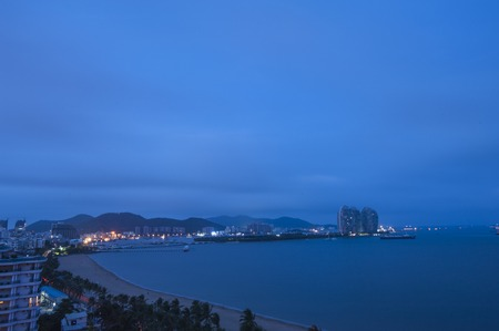 Sanya Bay night view Stock Photo