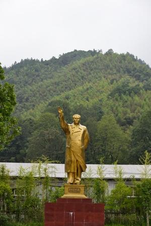 The statue of Mao Zedong in Jinggangshan