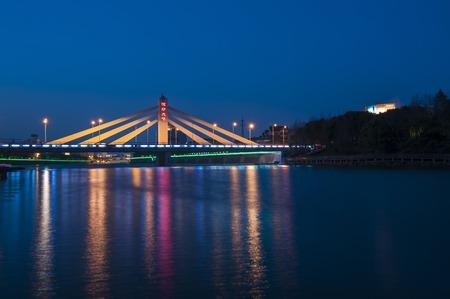 Night view of the bridge Banco de Imagens - 103840241