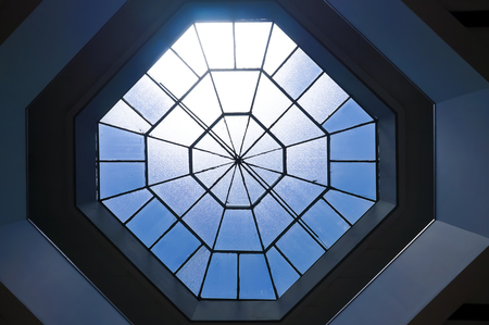 Glass roof of teaching building