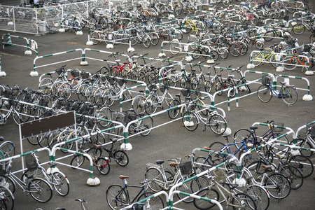 Bicycle parking lot