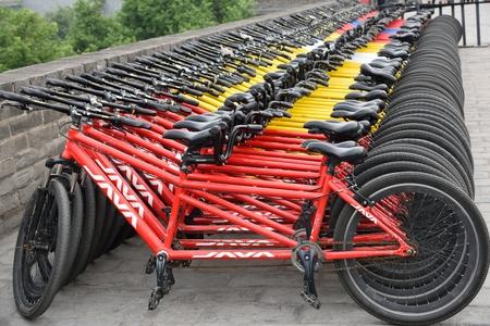 Xian City Wall Bicycle Rental Editorial