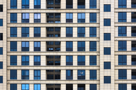 Windows of residential buildings