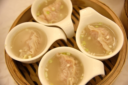 scallops Soup with Dumplings