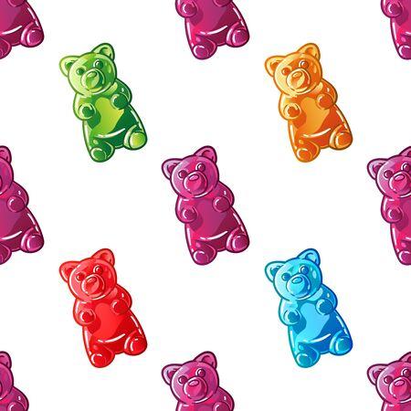 Jelly bears  イラスト・ベクター素材
