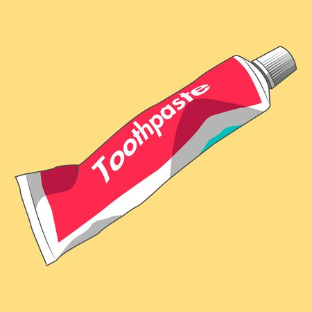 A tube of toothpaste in vector graphics.