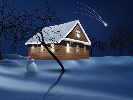 northern light: illustration usefull for greeting cards  backgrounds  desktops etc...