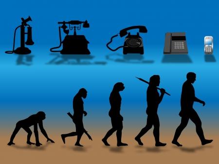 evolucion: comparando humana y evoluci�n de tel�fono